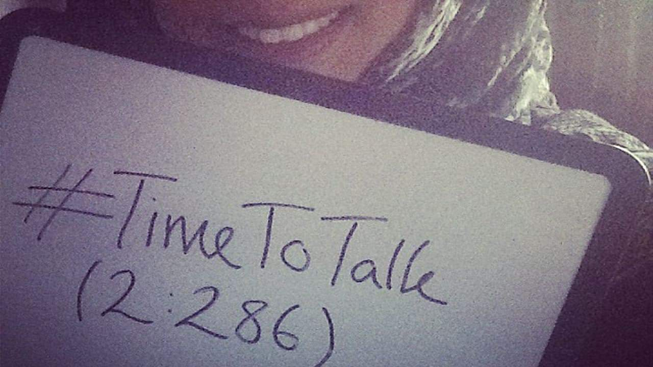 Okay, I will talk. #TimeToTalk