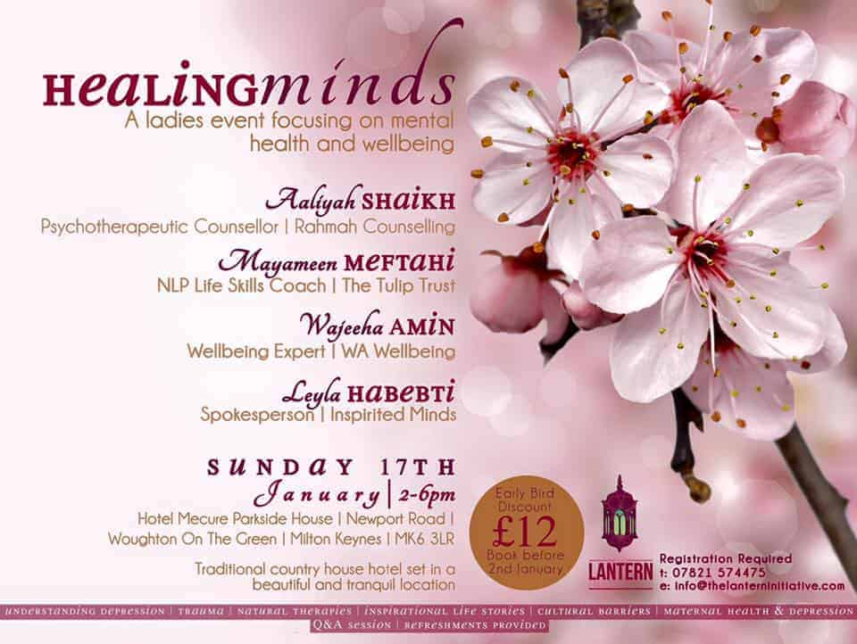 Healing Minds – A Ladies event focusing on Mental Health and Well Being